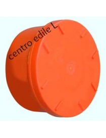 ORANGE PVC PIPE CAP