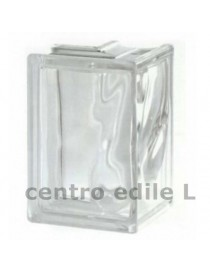 Glass block WAVY TRANSPARENT mm 132 X 190 X 80