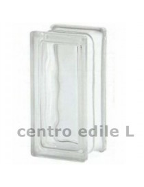 Glass block WAVY TRANSPARENT 9 cm X 19 X 8