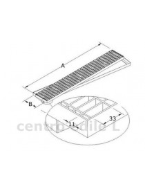 ANTITACCO STEEL GRILLE with mesh FRAME 33x11