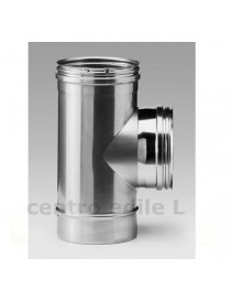 T FITTING to STAINLESS STEEL FLUE diameters