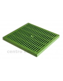 GREEN PLASTIC GRILLE WITH FRAME
