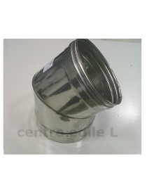 CURVE STAINLESS STEEL CHIMNEY open 45 °